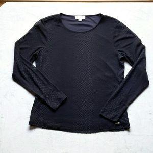 Calvin Klein Mesh Snakeskin Long Sleeve T-shirt